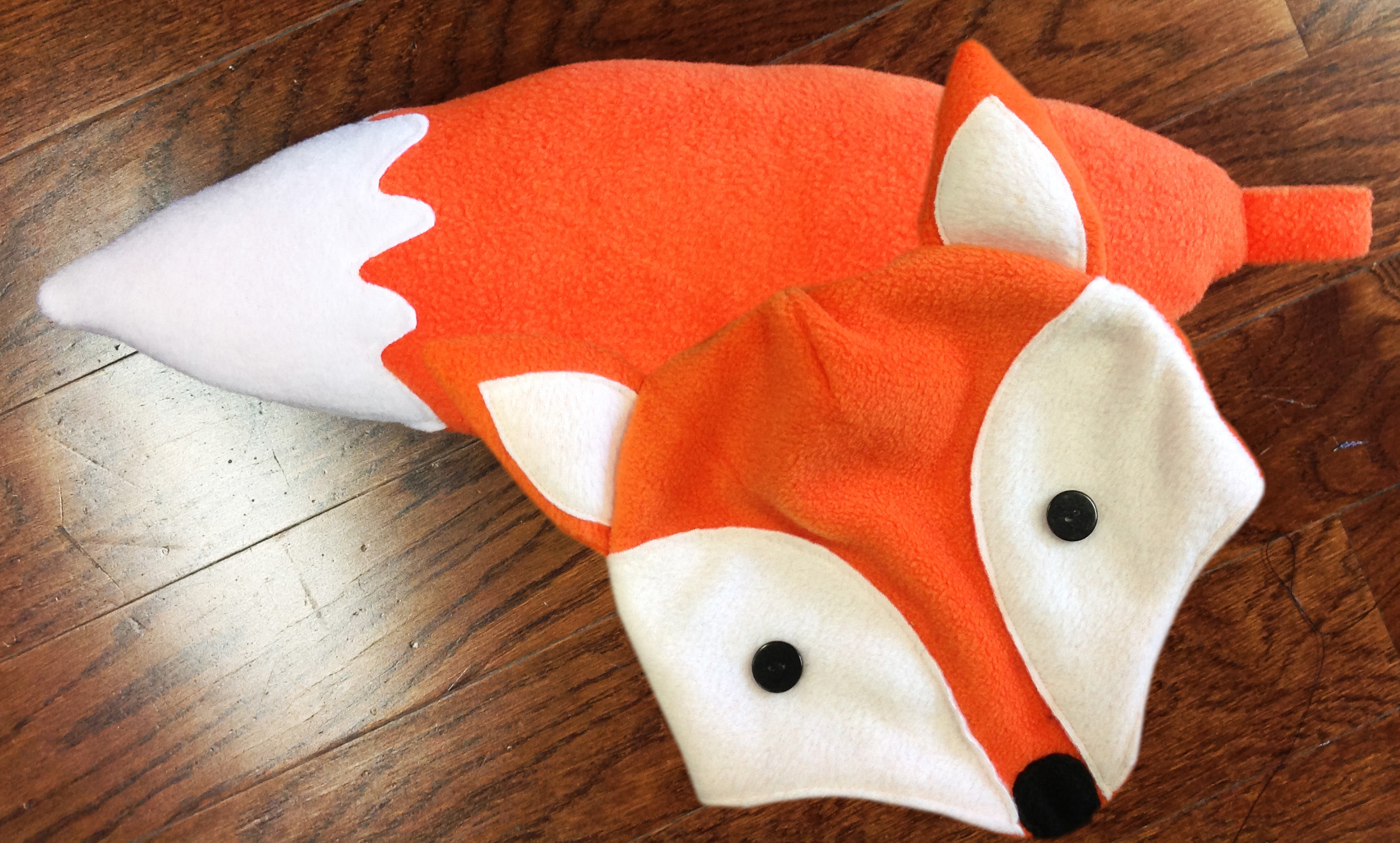 5afe872a98f4f How To s Day  DIY Halloween Costume – Fleece Fox Hat   Tail ...